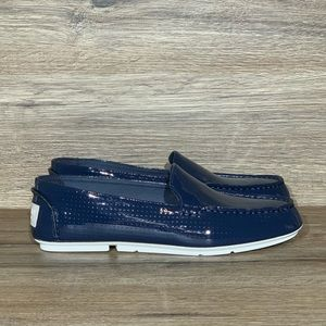 New Sperry Bay View Patent Leather Loafer Navy